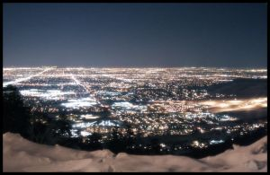 Lookout over Denver at night by torchdesigns