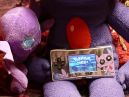 Custom Sableye Gameboy Micro Faceplate by Bonus-Juice