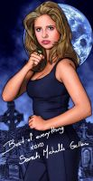 """Buffy poster with """"signature"""" by tygerbug"""