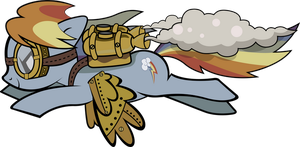 Steampunk Rainbow Dash by Mowza2k2