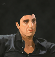 Scarface Digital Painting [WIP] by KyleChadwick