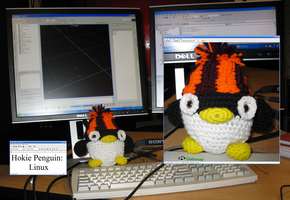 Hokie Penguin - Linux by craftysorceress