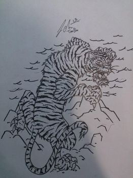 Tiger Tattoo design by ChoMeiSter14