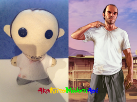 GTA V Plushes: Trevor  Philips by AkaKiiroMidoriAoi