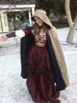 Red Taffeta English Renaissance gown and cloak by krswanson
