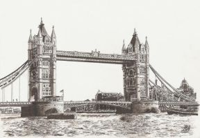 Tower Bridge by maddrawings