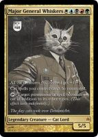 MtG: MajorGeneralWhiskers by Overlord-J