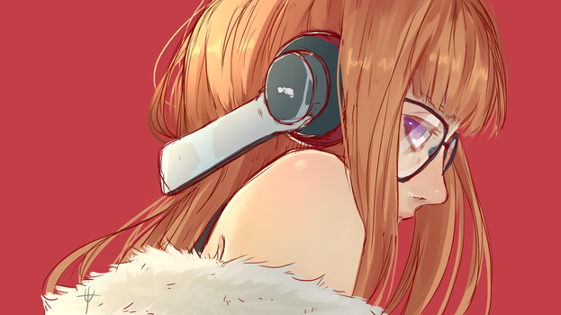 Futaba Sakura Fan Art by duskyu