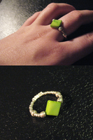 Crafted Green Nacre Ring by sampdesigns