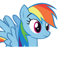 Rainbow Dash First Vector SVG by imjoshdean