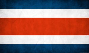 Costa Rica Flag Grunge by think0