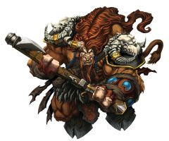 Tauren Toy Package art by Tonywash