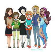 Humanstuck Girls by leesers