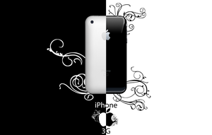 black v white iPhone 3G by croche08