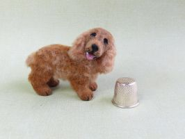 Benny spaniel 1 12th scale dollhouse miniature by squizzy7o7