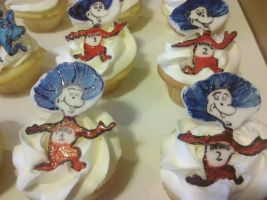 Thing 1 and Thing 2 Cupcake Minis by missblissbakery