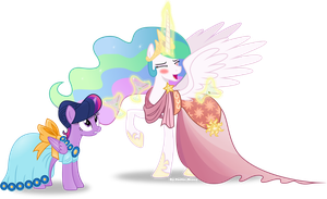 Celestia's drunk by Vector-Brony