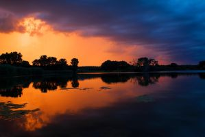 Lake Sunset by MarcinPhoto