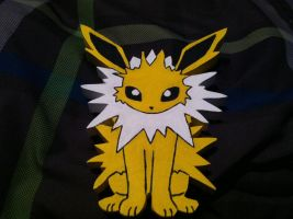 Jolteon Wooden Figure by daghostz