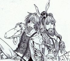 bleach and DGM - rabbit friends by NemesiHouseburns