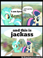 lyra and bon bon jackass by MegaSupertacoman-YT