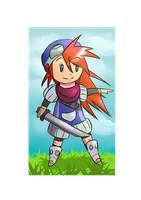 Justin from Grandia by CatWithTheBazooka