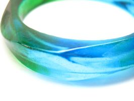 Blue green faceted bracelet by TopazTurtle