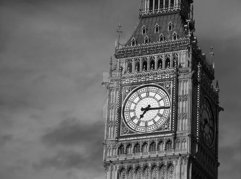 Big Ben 3 Black and White by zaphotonista