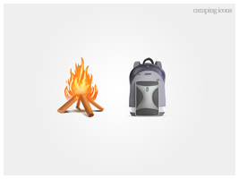 Camping Icons by Ceruleano