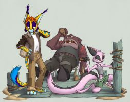 Bobby, Vi, and Grunn by Dreamkeepers