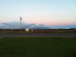 Distant Lake Effect Storm by dcrods
