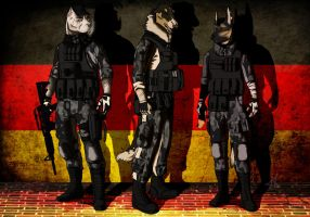 Special Force of Germany: Team 9 by VeroWolfthegreenfang