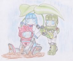 Playing in the rain by Sidian07