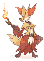 Blaise the Delphox by buyo-baka