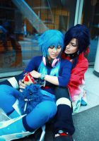 DRAMAtical Murder Koujaku and aoba by azuooooo