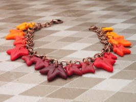 Fall foliage bracelet by Blackash