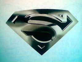 SUPERMAN CHROME AIRBRUSHED by javiercr69