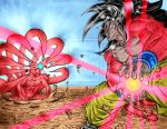 SSJ4 vs Nine-tails by ssjgogeto