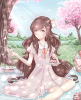 Picnic under Cherry Blossoms by Cottoneeh