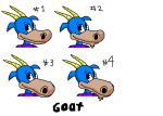 Goat Toon Heads by Animaltoon