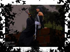 Shinigami black butterflies by Angiepureheart