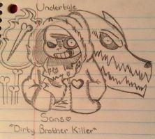 Dirty Brother Killer ( Undertale: Genocide ) by CreepyGamerGirl2002