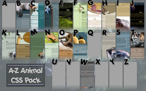 A-Z Animal CSS Pack - WIP by capncraka