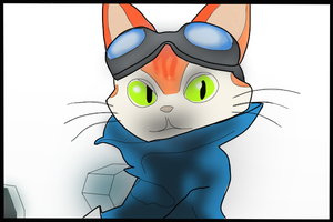 Blinx draw coloured by MarcoMetalWolf