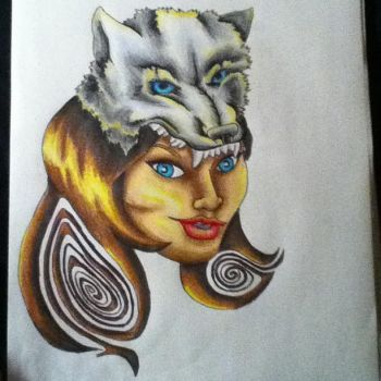 wolf lady by AnythingButThat