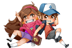Mable and Dipper [FAN ART] by PiruuPi