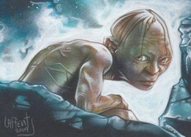Gollum Sketch Card by JeffLafferty