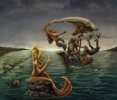 Collision course with a siren  by Rubens-Oscroft