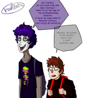 [humanstuck] Gamzee And Karkat by EyelessArtist