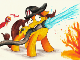 Fanart - MLP. Sandy the Firecolt by jamescorck